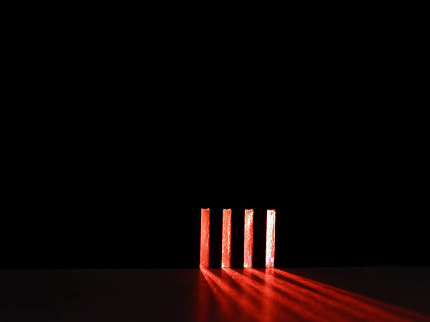 red light stripes stock photo