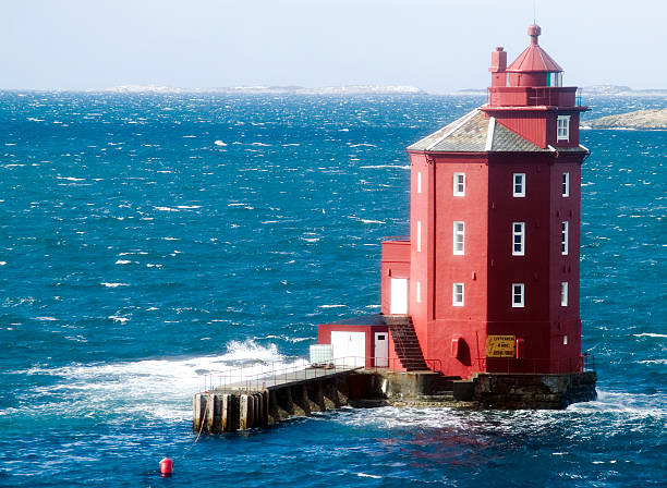 Red lighthouse, Norwegen – Foto