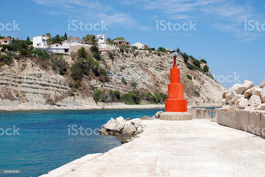 Red lighthouse royalty-free stock photo