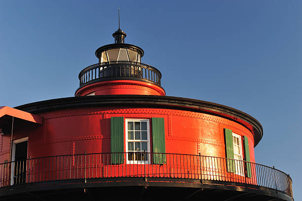Red Lighthouse  inner harbor baltimore stock pictures, royalty-free photos & images
