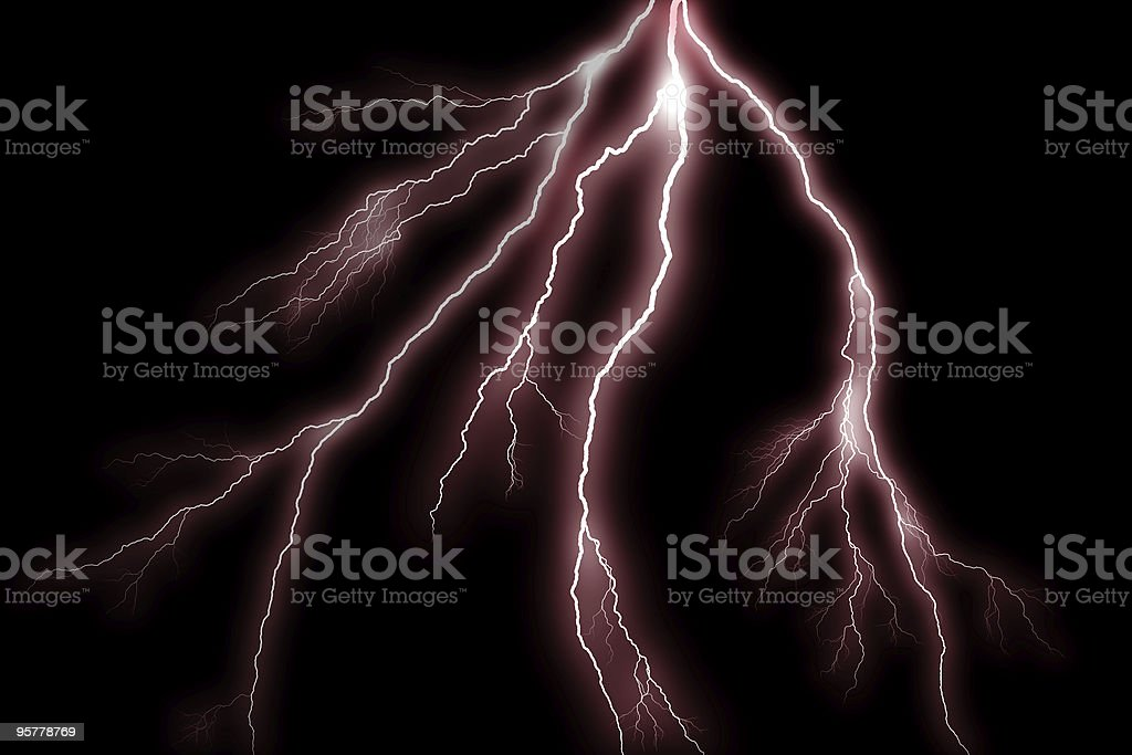 Red Lightning bolts stock photo