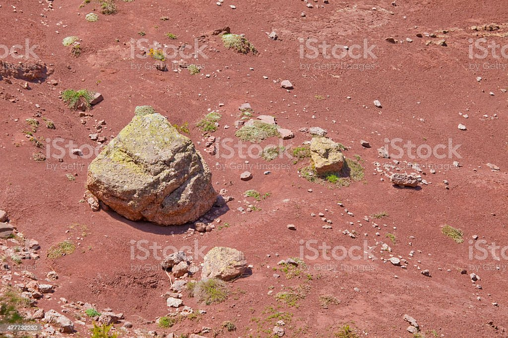 Red limestones and sandstones Peranera formation stock photo