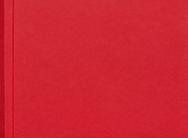 Red linen book cover background stock photo