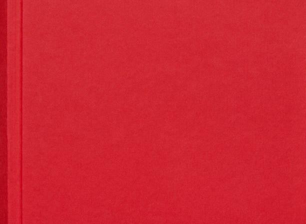 Rotes Leinen Buch Abdeckung Hintergrund – Foto