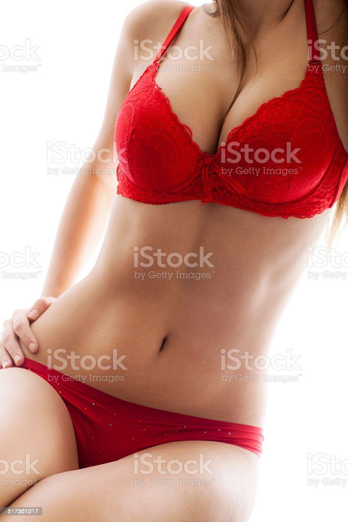 Red Lingerie stock photo