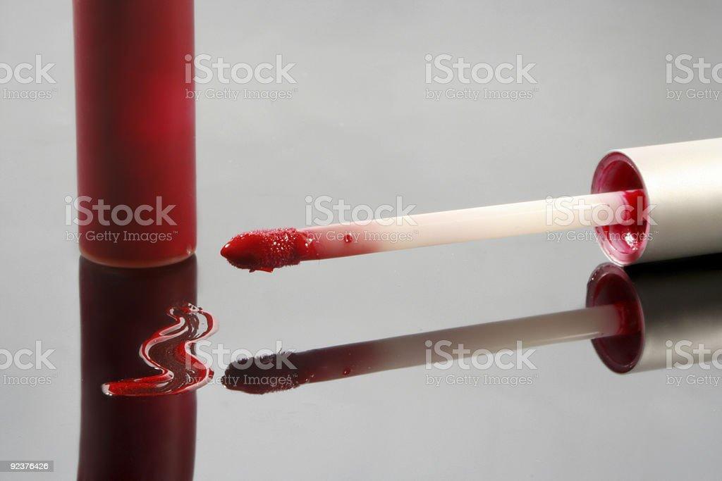 red lip gloss royalty-free stock photo