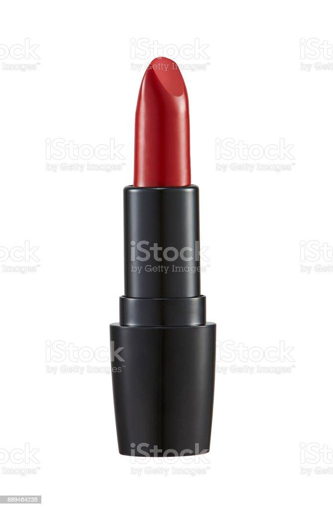 Rote Lippenstift, isoliert auf weißem Hintergrund – Foto
