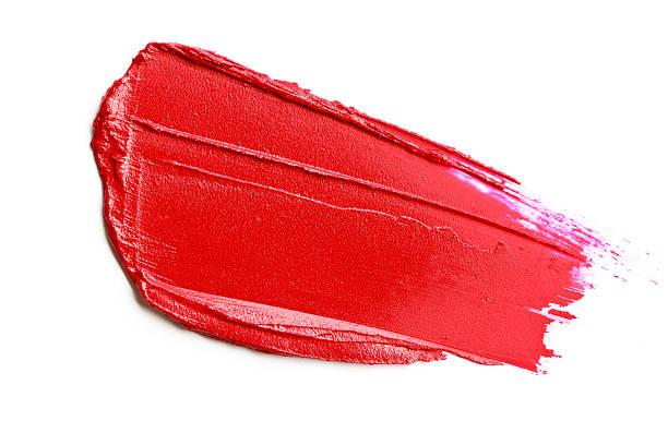 Red lipstick smear stock photo