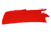 istock Red lipstick smear smudge swatch (Clipping Path) 1270406960