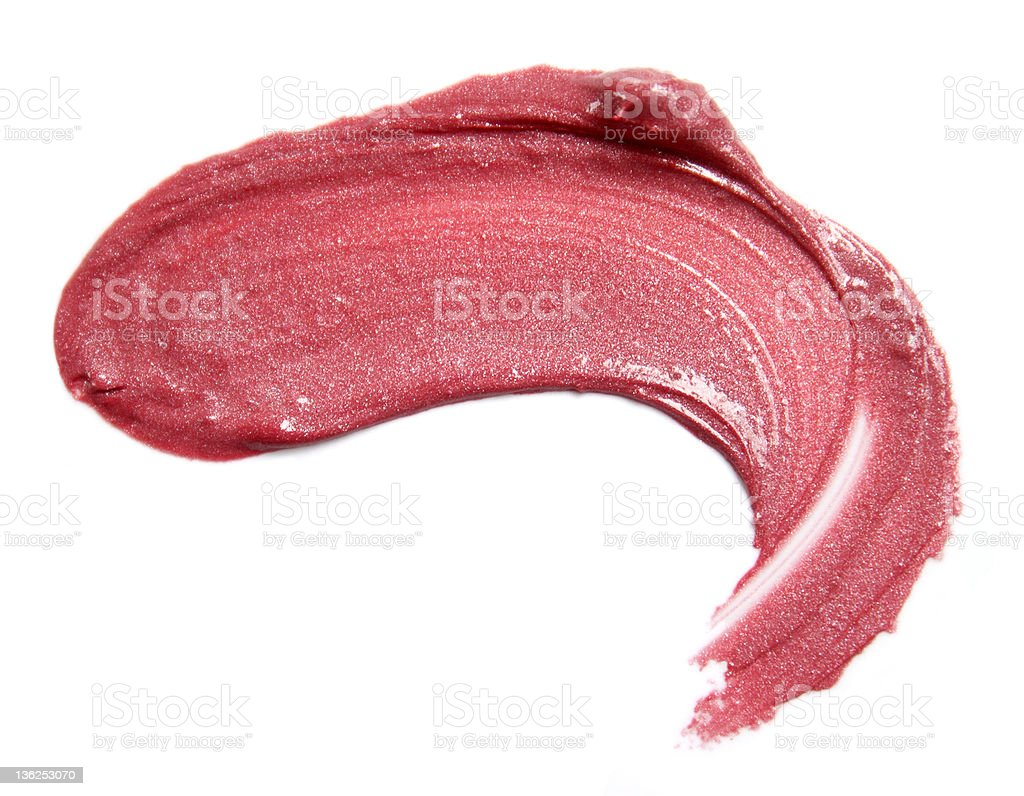 Red lipstick smears royalty-free stock photo