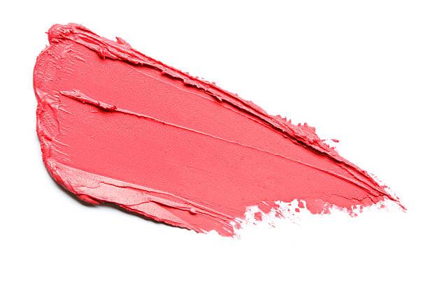 red lipstick smears - bevlekt stockfoto's en -beelden
