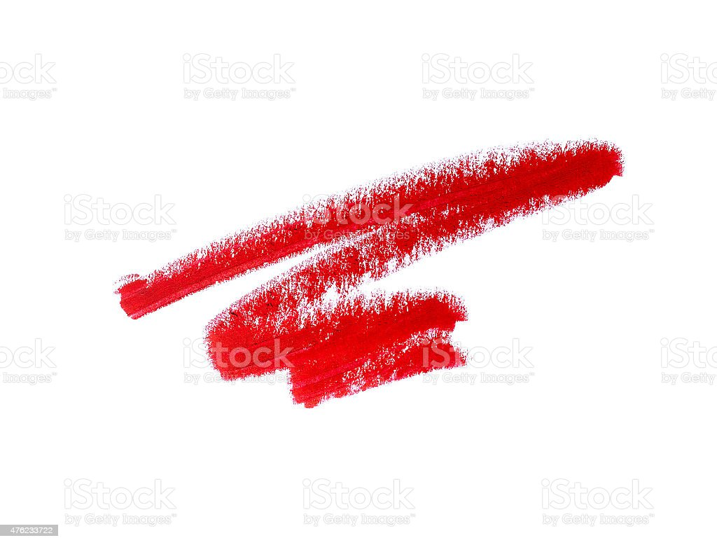 Red lipstick squiggle stock photo