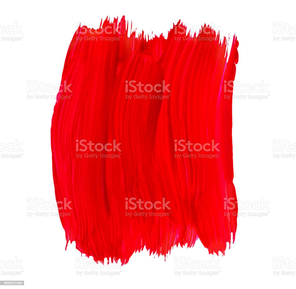 red lipstick stroke stock photo