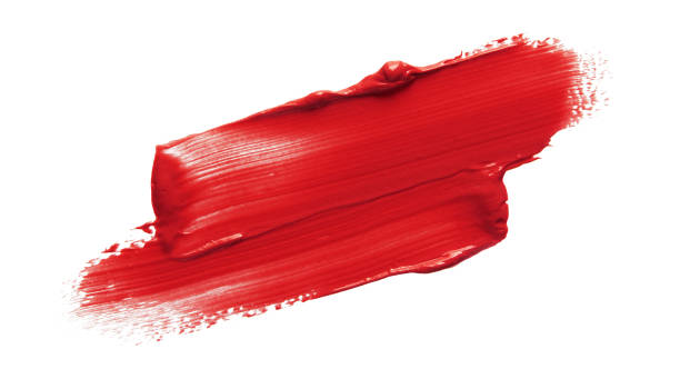 красная помада swatch - краска стоковые фото и изображения
