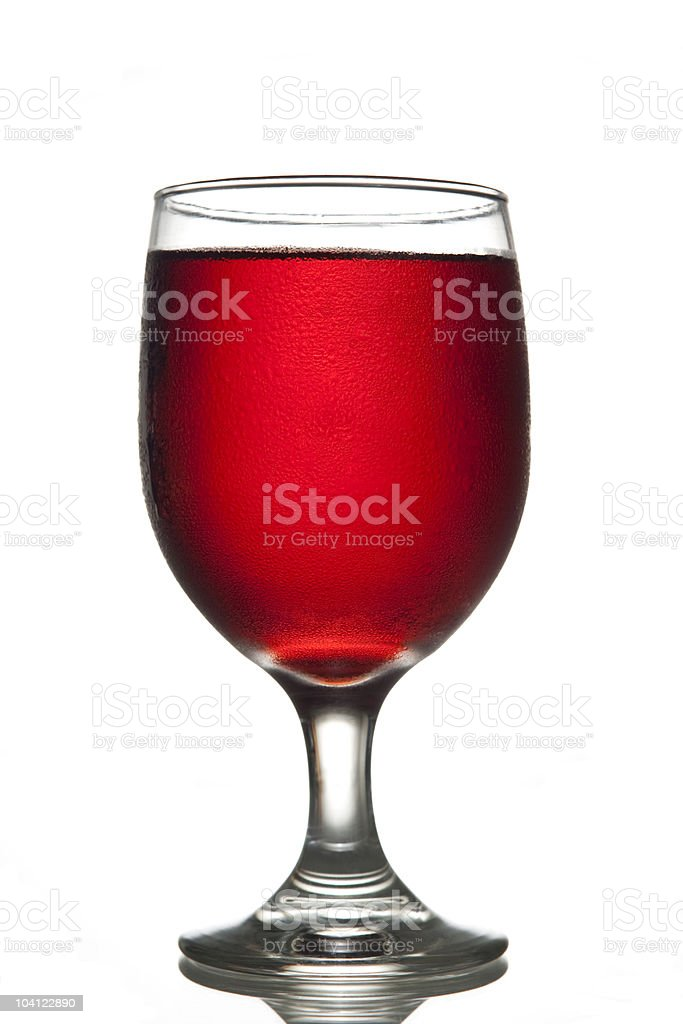 Red Liquid in Glass stock photo