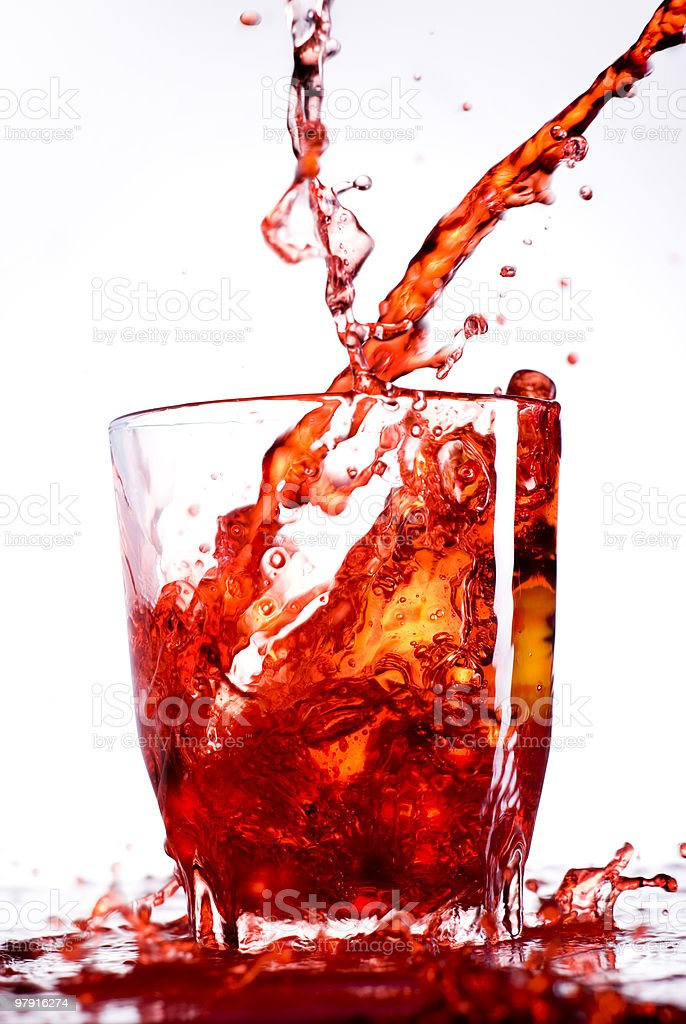 Red liquid motion royalty-free stock photo