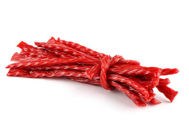rosso liquorice candy - liquirizia foto e immagini stock