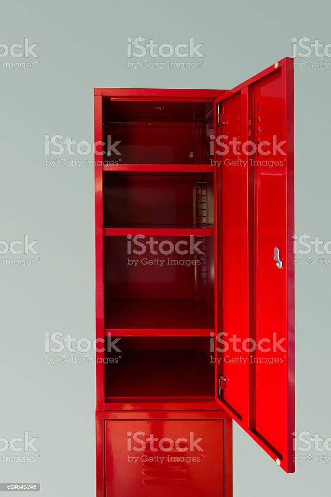 Red Locker stock photo