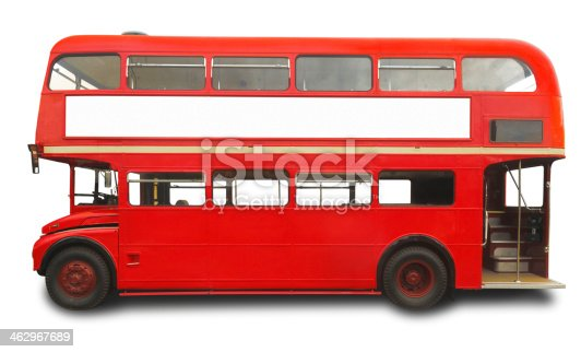 Red double decker London bus isolated on white with a clipping path XXXLarge