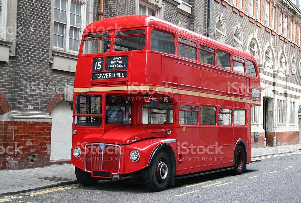 Rojo London autobús de dos pisos - foto de stock