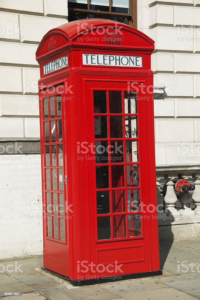 Red London Telephone Box royalty-free stock photo