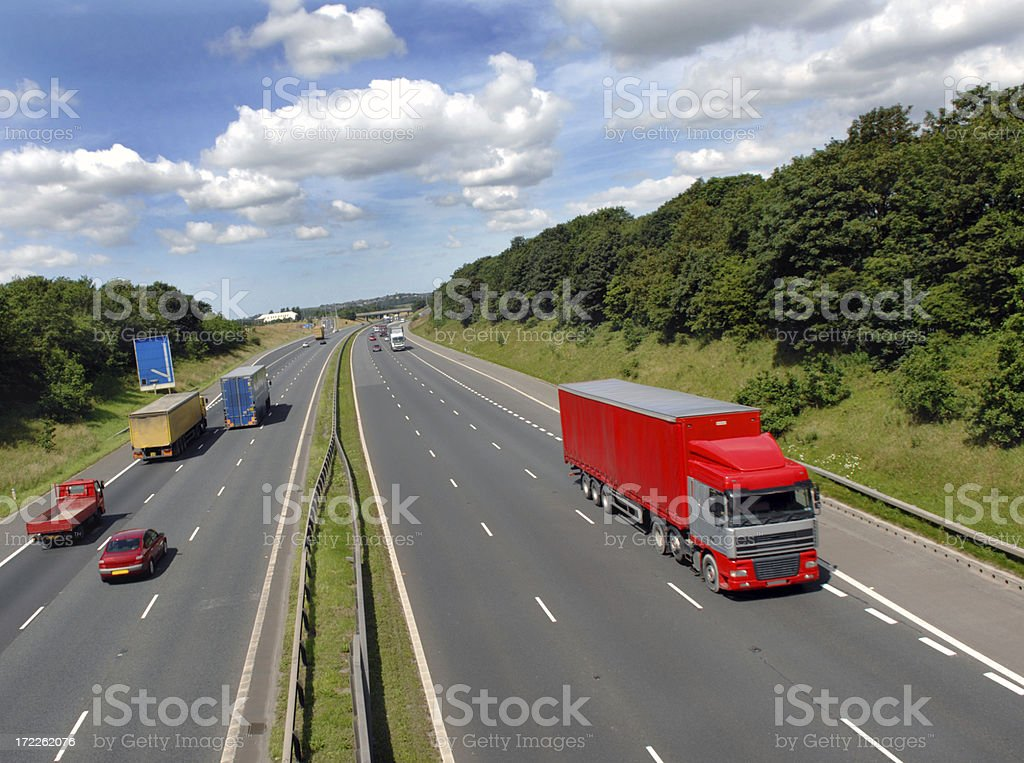 Red Lorry royalty-free stock photo