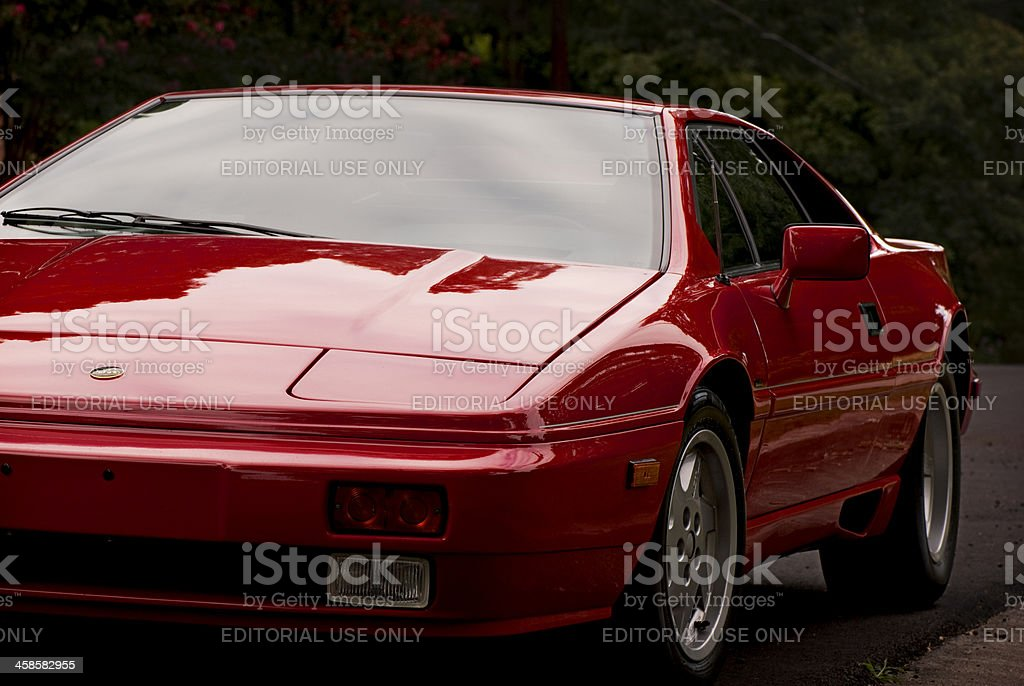 Red Lotus Sports Car stock photo