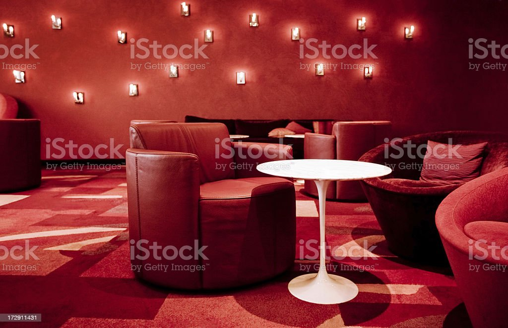 Red Lounge royalty-free stock photo