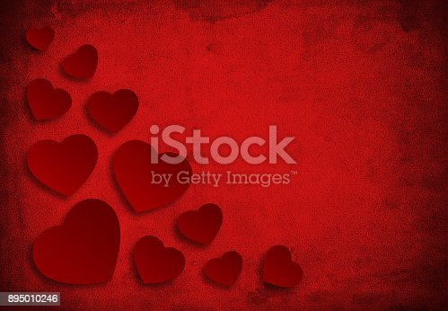istock Red love background 895010246