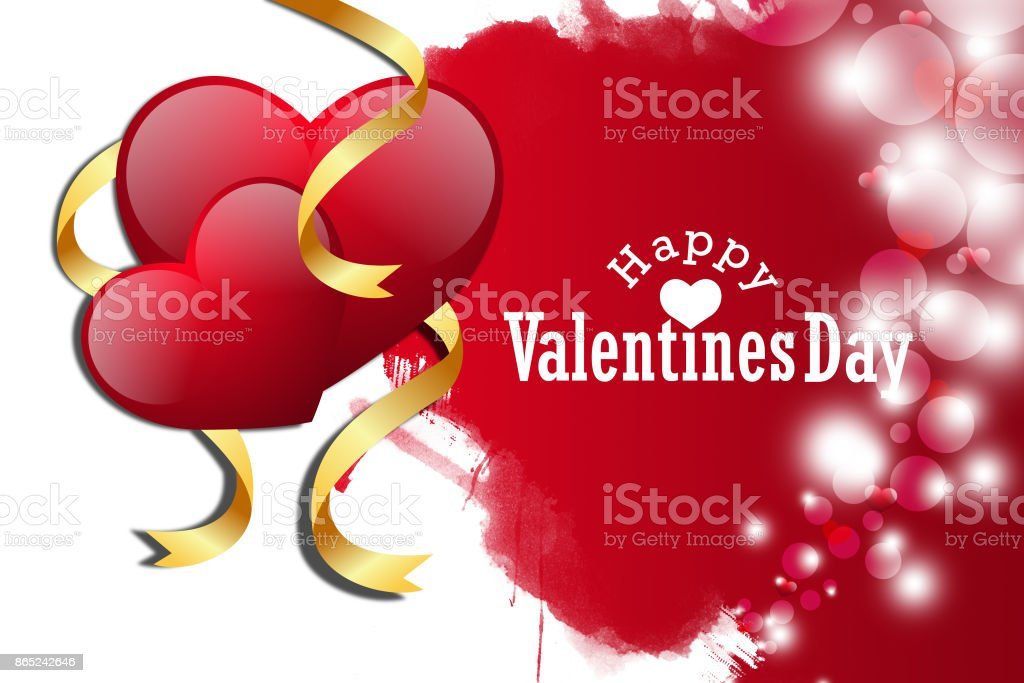 red love heart, valentines day concept stock photo