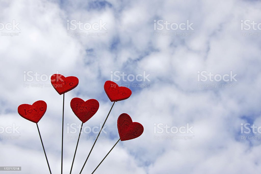 Red love hearts # 1 royalty-free stock photo