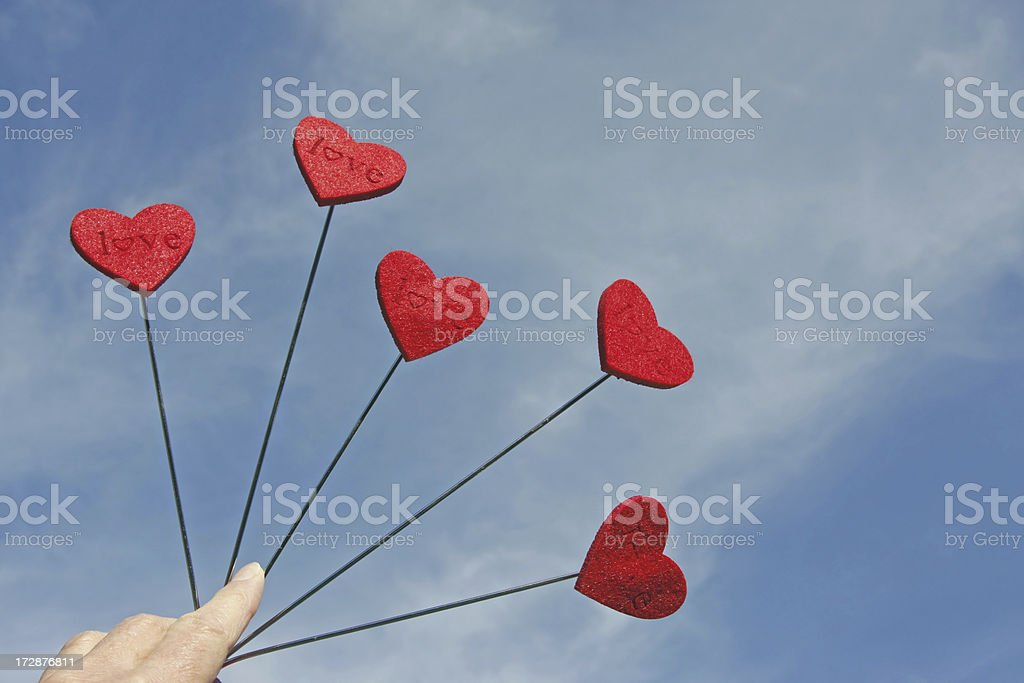Red love hearts # 3 XL royalty-free stock photo