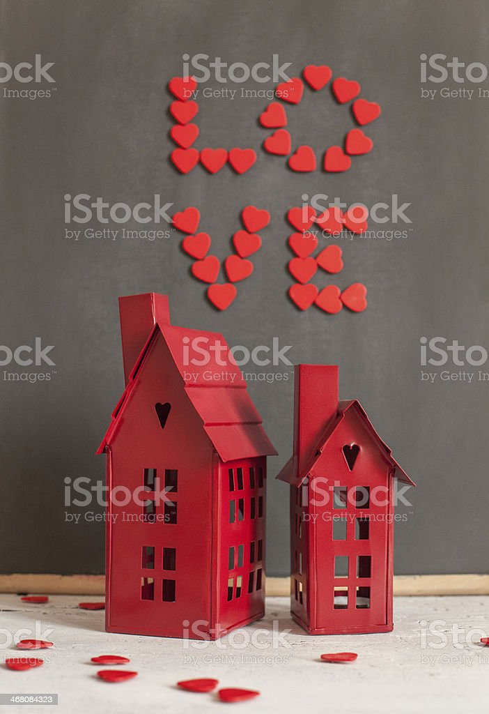 Red Love stock photo
