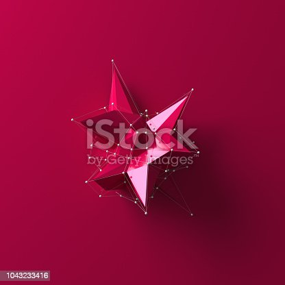 687269072istockphoto Red low poly object 1043233416