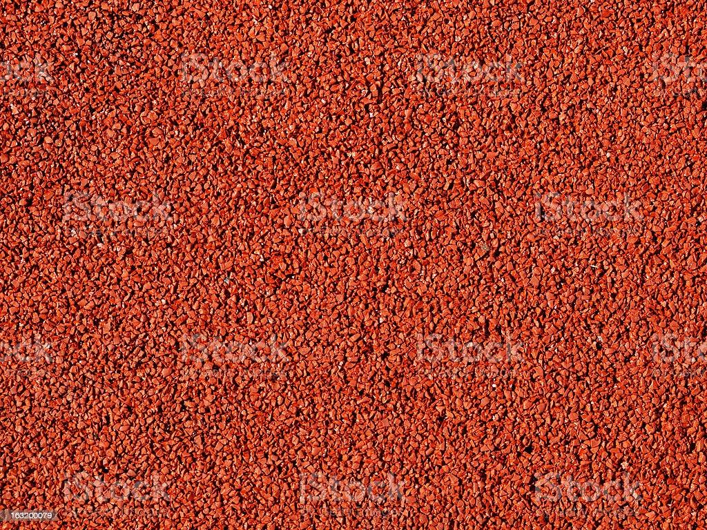 Red macadam floor royalty-free stock photo
