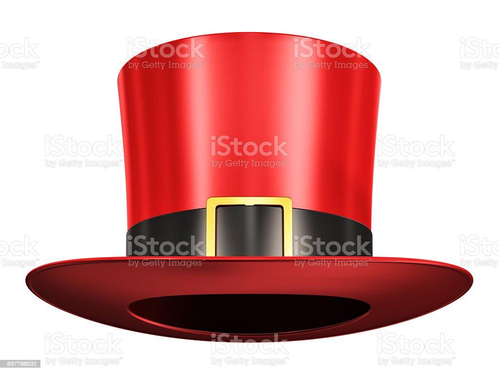 Red magic hat stock photo