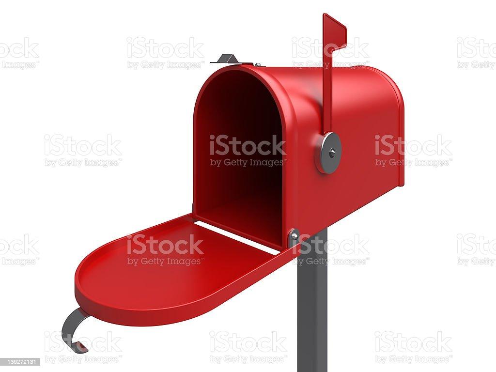 Red mailbox stock photo