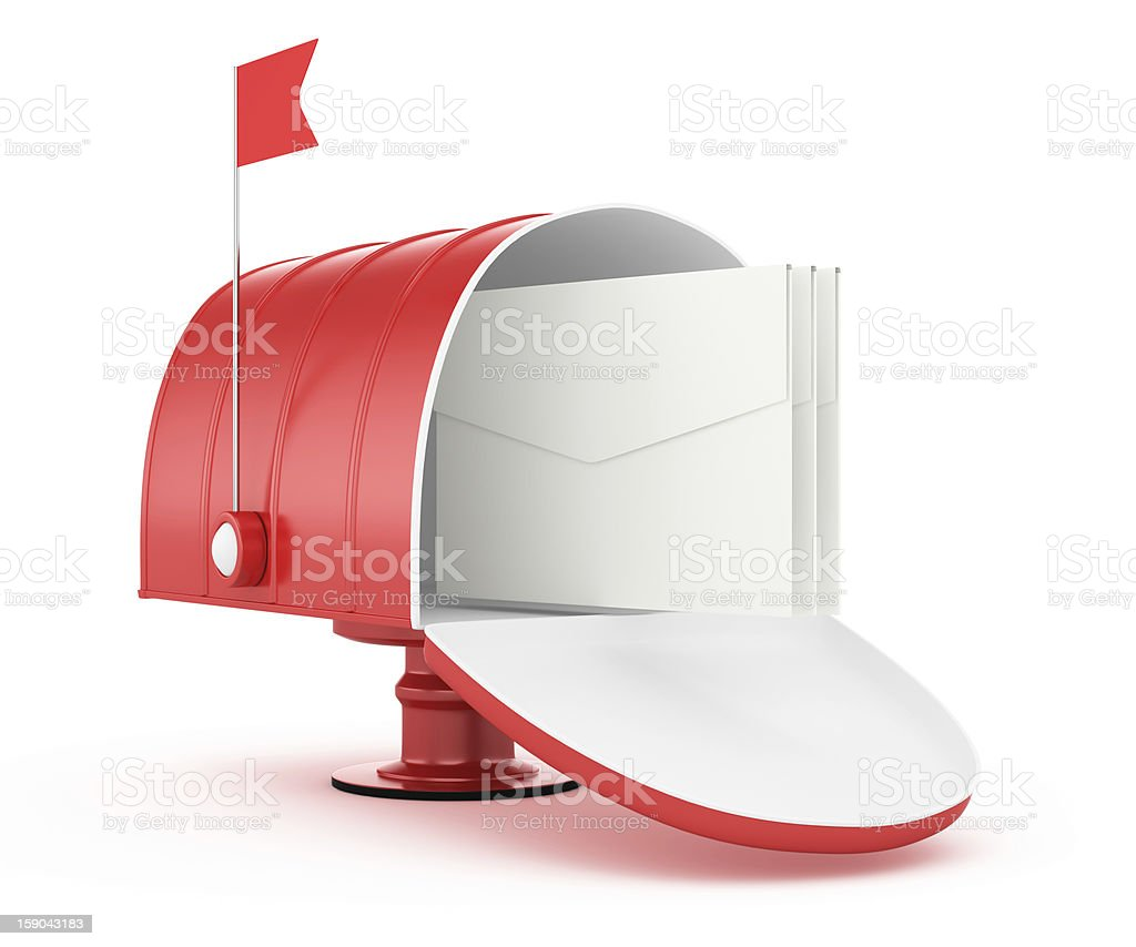 red mailbox royalty-free stock photo