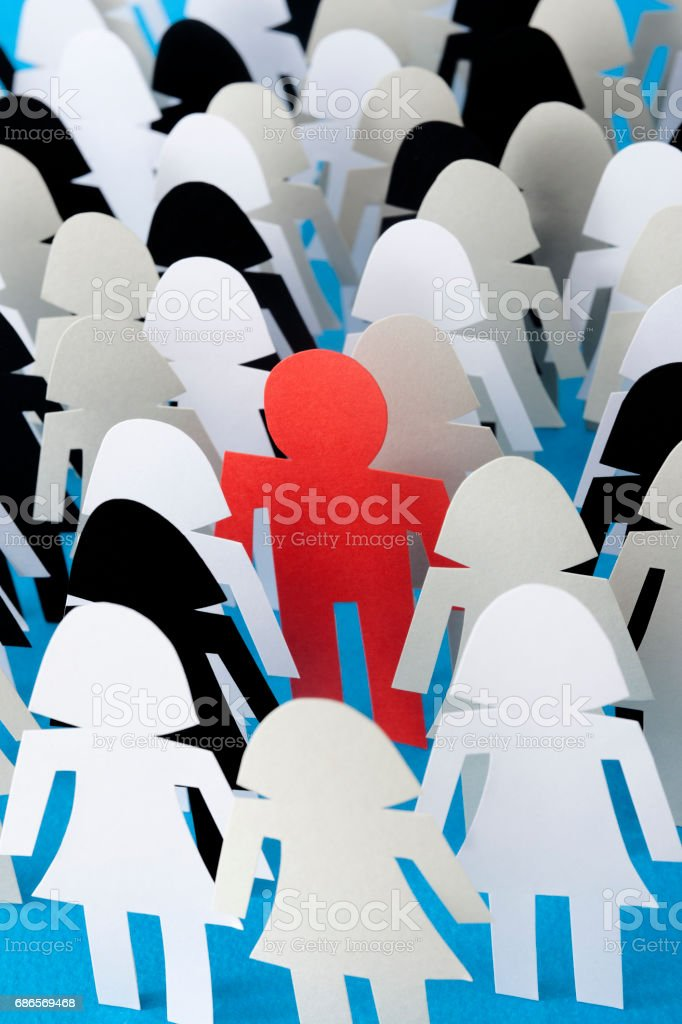 Red man royalty-free stock photo