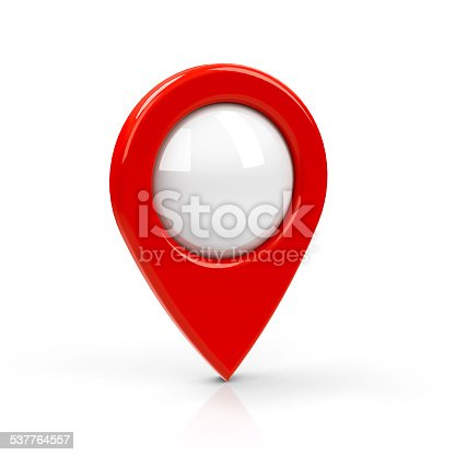 istock Red map pointer blank 537764557