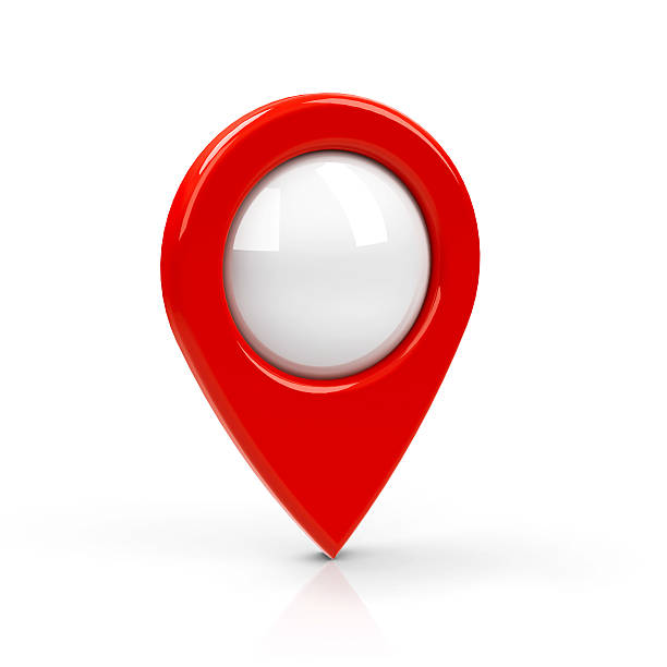 pointeur de carte rouge vide - niveau photos et images de collection