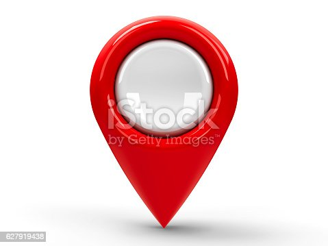 istock Red map pointer blank 627919438