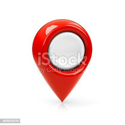 istock Red map pointer blank #2 858655540