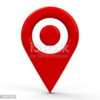 935214858istockphoto Red map pointer dot 482872924