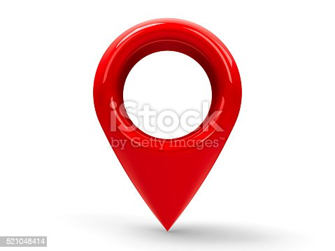 935214858istockphoto Red map pointer #2 521048414