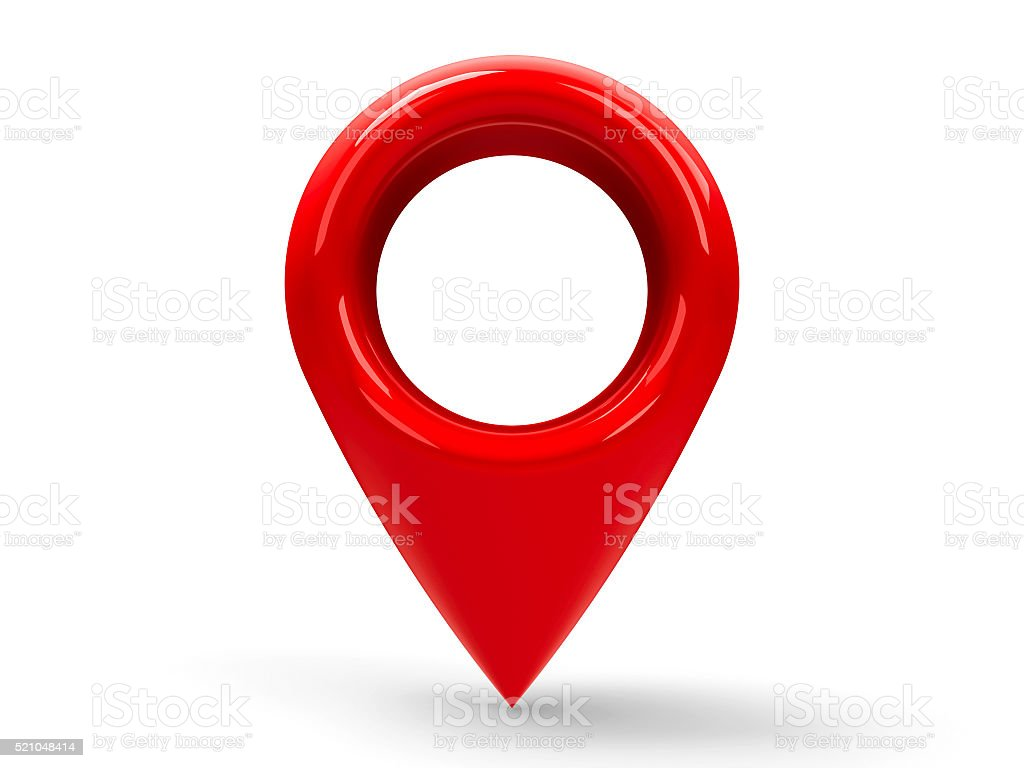 Red map pointer #2 stock photo