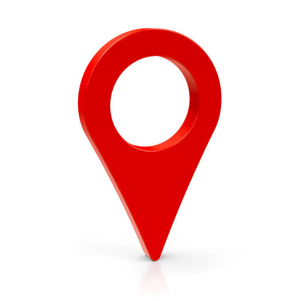 Red map pointer #3 stock photo