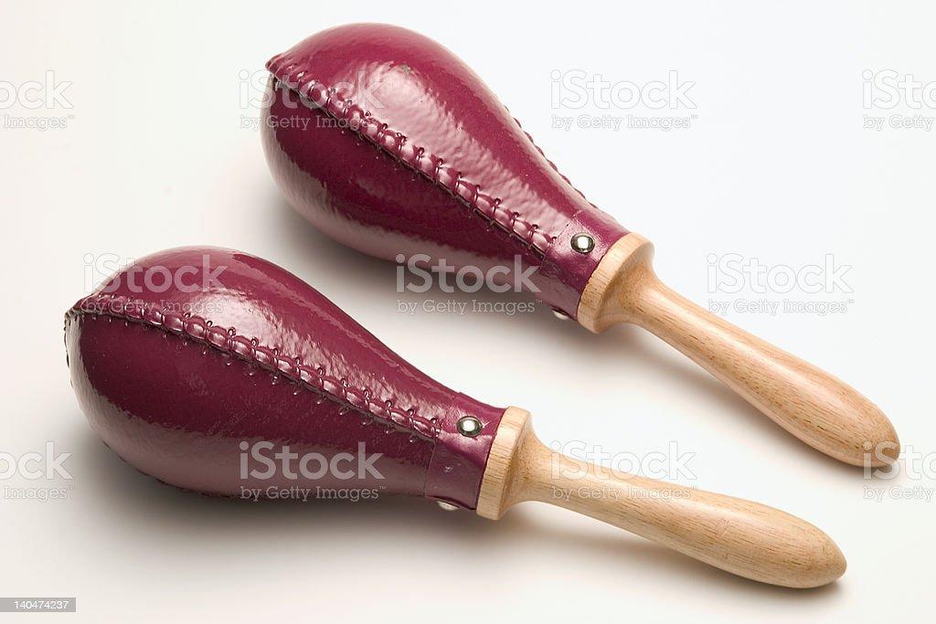 Red maracas royalty-free stock photo