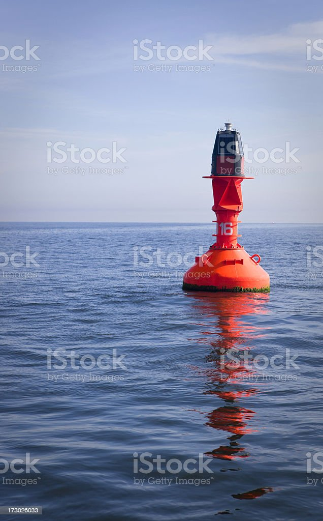 Red Maritime Buoy stock photo