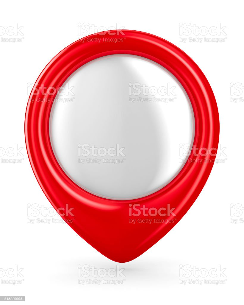 Red marker on white background. Isolated 3D image stock photo